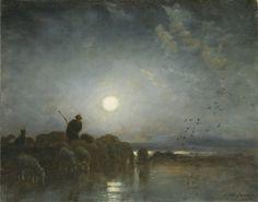 Charles Emile Jacque Moonlight