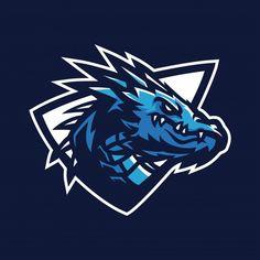 Modelo de logotipo de mascote de jogos esport de dragão Vetor Premium Gaming Logo, Logo Dragon, Esports Logo, Logo Desing, Mascot Design, Soccer Logo, Animal Logo, Logo Food, Art Logo