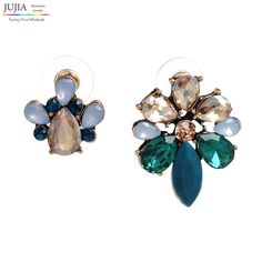 2 colors Statement Jewelry Fashion Classic crystal stud Earrings Factory Wholesale
