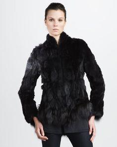 Theyskens' Theory Fur Jacket - Neiman Marcus