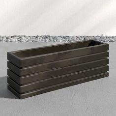 Plastic Planter Boxes, Wood Planter Box, Window Planter Boxes, Wood Planters, Porch Planter, Planter Ideas, Rectangular Planter Box, Picket Fence Panels, Outside Patio
