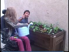 Accessible Wheelchair Elevated Raised Bed Container Garden from Start to Finish - YouTube