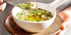 Boodschappen - Courgettesoep met kip en champignons