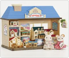 Happy Land Sylvanian Families Toy Shop  The Sylvanian Toy Shop has 8 Sylvanian houses and buildings, furniture, a display case and lots of accessories. Figures not included but includes over 30 accessories.  http://www.comparestoreprices.co.uk/childrens-gifts/happy-land-sylvanian-families-toy-shop.asp