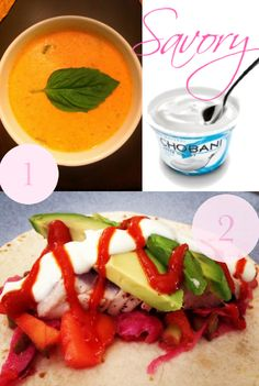 Savory ways to use Chobani! Make soup even creamier & sub for sour cream in fresh fish tacos.