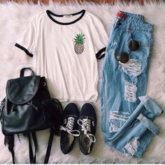 Jeans: ripped jeans, blue, grunge, hipster, boyfriend jeans, shirt, tumblr, tumblr outfit, tumblr clothes, style - Wheretoget