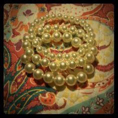 3 Brand New Vintage Pearl Bracelets Pearls are always in style! kate spade Jewelry Bracelets
