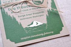 Christy + Matteo's Screen Printed Woodland Wedding Invitations