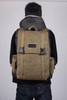 Four colors backpackcanvas backpack Cylinder backpack by onlysucre, $32.00