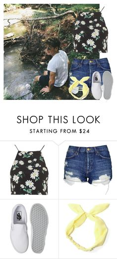 """""""Playing with Mikey"""" by jaisgirlfriend ❤ liked on Polyvore featuring Topshop and Vans"""
