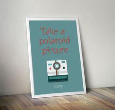 Poster Polaroid - COM MOLDURA - stamp