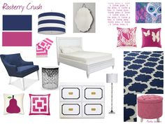 pink and navy decor - Google Search