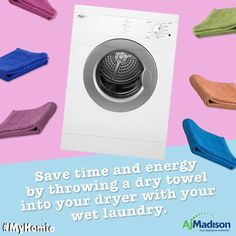 Turn laundry time to relaxin' time with our huge selection of high efficiency dryers to cut down your electricity bill and to-do list #laundryroom #electrolux