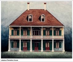 New Orleans Architecture, Southern Architecture, Colonial Architecture, French Colonial, Spanish Colonial, Mississippi, Louisiana Plantations, Creole Cottage, Old Cabins