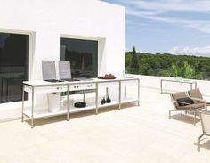 cuisine exterieure blanche design Viteo