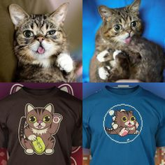 Two new t-shirt designs from our pals at The Yetee - Lil BUBble Bobble and Lucky BUB!