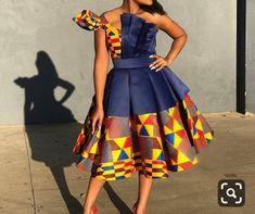 African women midi dresses / African print dress for plus size women/Ankara midi skater dress / african clothing for women / Ankara clothing African Party Dresses, Latest African Fashion Dresses, African Print Dresses, African Traditional Wear, Wrap Dress Short, African Fashion Designers, Ankara Dress, Cape Dress, Dress Picture