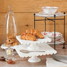 Square Cake Stands, Set of 2