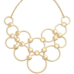 Vera Bradley Mod Elegance Ring Necklace in Gold Tone ($58) ❤ liked on Polyvore featuring jewelry, necklaces, gold tone, vera bradley, goldtone jewelry, ball jewelry, gold tone jewelry and charm jewelry