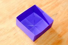 How to Fold a Paper Box: 19 Steps - wikiHow no cutting needed! You might wish to cut a small square in a complimentary color to line the bottom of the box.