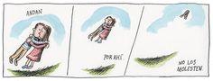 Liniers, seudónimo de Ricardo Siri (Buenos Aires, 15 de noviembre de 1973), es un historietista argentino conocido por ser el autor de Macanudo. #Humor Best Kisses, Love Kiss, Humor Grafico, Good Notes, Calvin And Hobbes, All You Need Is Love, Cute Pictures, Words, Illustration