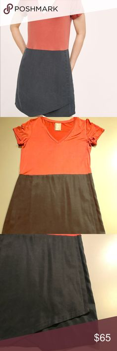 Anthropologie Dolan Colorblock Dress Formfitting but not tight. Super light and soft. Only worn once.  Approximately 34 in long. No damage or stains. Anthropologie Dresses