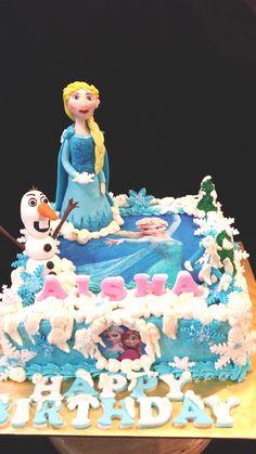 Disney frozen favorite couple Elsa and Olaf #Buttervanilla #Sweetcreation20 #Frozen #Elsa #olaf #Cake
