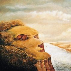 Innovative surrealist works contain a profuse amount of conundrums and concealed images. Тhe artist hid an image of a goose in the picture above. Can you find Optical Illusions That Will Leave You Bewildered Can You Find It, What Do You See, Illusion Art, Intuition, Optical Illusions, Perception, My Images, Cool Pictures, Street Art