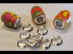 How to Gloss Paper Beads and Insert Bead Cores Paper Bead Craft Tutorial – YouTu… - DIY Jewelry Crafts Ideen Paper Beads Tutorial, Paper Beads Template, Make Paper Beads, Paper Bead Jewelry, Quilling Jewelry, Fabric Jewelry, Paper Quilling, How To Make Beads, Beading Tutorials