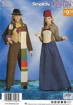 ALL our Sewing Patterns have been marked down 25%! Stock up Now! See more costumes at http://moonwishesstore.ecrater.com/c/487430/costume-patterns   Simplicity Sewing Pattern W0106 8200 Misses Size 14-22 Cosplay Time Travel Costumes   Simplicity+Sewing+Pattern+W0106+8200+Misses+Size+14-22+Cosplay+Time+Travel+Costumes
