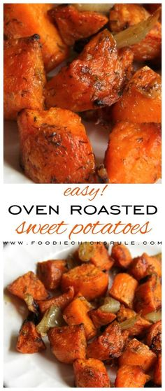 Fried Cabbage and Ham - Foodie Chicks Rule Roasted Veggies In Oven, Oven Roasted Sweet Potatoes, Grilled Veggies, Oven Vegetables, Roasted Carrots, Roasted Tomatoes, Sweet Potato Oven, Sweet Potato Recipes, Veggie Dishes