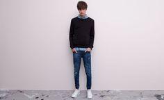 Pull&Bear - man - jeans - super skinny fit jeans - indigo - 05682521-V2015