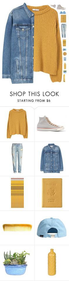 """""""Feeling like a 90s kid"""" by genesis129 ❤ liked on Polyvore featuring MANGO, Converse, H&M, Royce Leather, Hermès and vintage"""