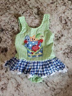 0aca045bf063b Mud pie baby girl 12-18 months sea creature sunsuit  fashion  clothing
