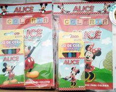 Kit de Colorir Pocket Minnie e Mickey