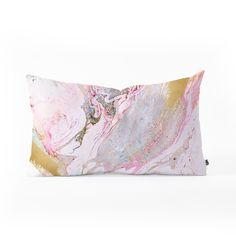 Iveta Abolina Winter Marble Oblong Throw Pillow | DENY Designs Home Accessories