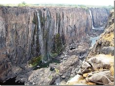 There are lots of photos of gorgeous Victoria Falls in Zambia but few that capture the gorgeous canyon in the off season.