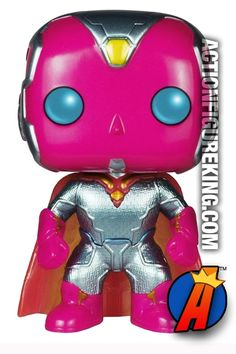 #Marvel Exclusive #AVENGERS Age of #Ultron Metallic #VISION Figure. Quickly and easily search thousands of new and vintage #Collectibles #Toys #ActionFigures and more here… http://actionfigureking.com/list-3/funko-toys-collectibles-and-figures/funko-pop-marvel/funko-pop-marvel-avengers-2-variant-metallic-vision-figure-71