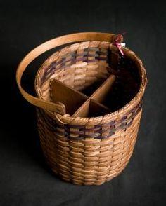 Four Bottle Wine or Knitting Basket Knit Basket, Basket Weaving, Making Baskets, Bamboo Architecture, Bamboo Weaving, Panniers, All Craft, Basket Decoration, Basket Ideas
