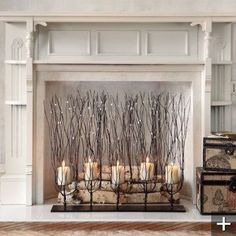9 Seductive Cool Tips: Faux Fireplace Headboard grey fireplace crown moldings.Small Fireplace Living Room slate fireplace with tv. Fake Fireplace, Fireplace Design, Unused Fireplace, Cottage Fireplace, Limestone Fireplace, Victorian Fireplace, Black Fireplace, Fireplace Mirror, Fireplace Filler