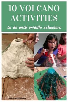 Study chemistry and geography with your tweens by building a volcano in your homeschool. Kids can learn about chemical reactions, earth formations, and ancient history all with one awesome hands-on project. It's easy to build a volcanco and isn't as messy as you think. I've included a bunch of different types of volcano projects you can do with your tweens. Our favorite was definitely making and eating the yummy volcano cupcakes! Preschool Projects, Science Projects, Science Experiments, Earth Science Lessons, Science Lesson Plans, Volcano Activities, Hands On Activities, Volcano Cupcakes, Creation Bible Crafts