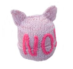 Pink Pussyhat with Writing NO! Beanie Cat Ears Hat Knitted Cat Hat Headwear Womens March on Washington Feminist Hat Womens Rights Hat  Being dressed in such pussyhat you can express your support for people who demonstrate against negligence of womess rights. You can put on a pussyhat for Womens March on Washington. If you are not in Washington or even if you are not in US you can show your solidarity with other women in any place. Standard hat fits most adult women head size 20 to 23 inches…