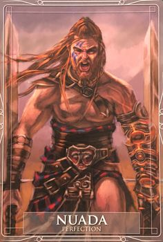 Nuada was an important figure in Celtic mythology. From his role as first leader of the Tuatha De Danaan (the term for the gods and goddesses who descended from the goddess Danu) to his involvement in legendary battles, Nuada played an essential part in I Vikings, Celtic Symbols, Celtic Art, Irish Mythology, Celtic Warriors, Legends And Myths, Pagan Witch, Witches, Triple Goddess