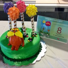 """""""The Lorax"""" - by Tammy Meyerhofer, 2015 FIRST PLACE INDIVIDUAL WINNER SCSU Library Edible Book Festival"""