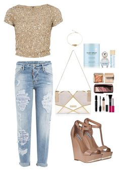 """summernights...in shimmer!"" by siamel ❤ liked on Polyvore featuring River Island, Alice + Olivia, Dsquared2, Steve Madden, Hourglass Cosmetics, MAKE UP FOR EVER, Bobbi Brown Cosmetics, NARS Cosmetics and Marc Jacobs"