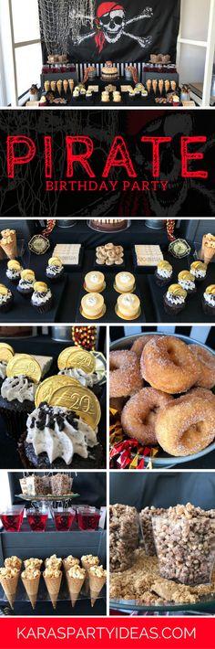 Pirate Birthday Party via Kara's Party Ideas - KarasPartyIdeas.com