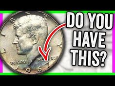 How much is a 1967 half dollar worth? We look at Kennedy half dollar error coins worth money. This is the 1967 half dollar value and coin prices. Valuable Pennies, Rare Pennies, Valuable Coins, Penny Values, Old Coins Value, Old Coins Worth Money, Coin Prices, American Coins, Kennedy Half Dollar