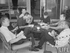 Rusty Schweikart, Jim McDivitt, Dave Scott, Roger Chaffee, Ed White and Gus Grissom - LIFE magazine