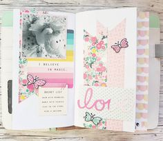 Look. I am not saying I am obsessed with making spreads in my Traveler's Notebook...but I might be. Slighty obsessed that is. Featuring my new roommate and @cratepaper's Cute Girl collection. #scrapbooking #papercraft #papercrafting #craft #crafting #diy #travelersnotebook #memorykeeping #journaling