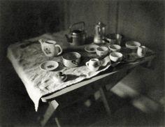 Andrew Sanderson, print from paper negative, child's tea set